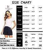 LNX Womens High Waisted Summer Cotton Shorts Wide