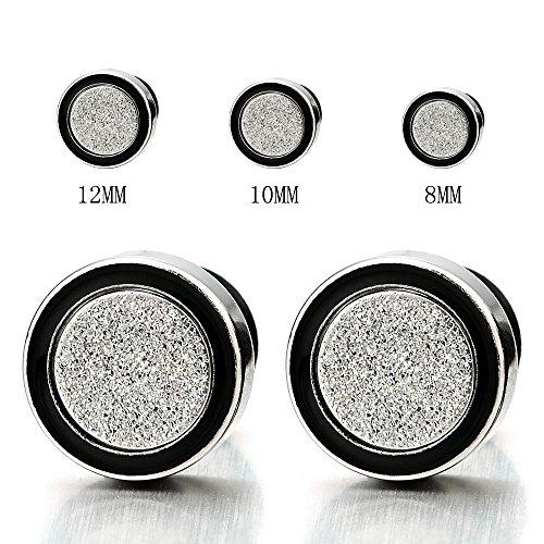 8 12MM Womens Earrings Cheater Glitter