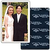 StoreSMART - Deluxe 4'' x 6'' Full Back Magnetic Photo Frames - 100-Pack - Sealed 3 Sides - H32304-100