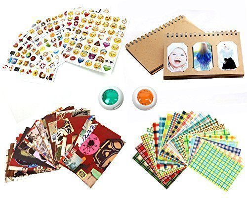 Mini-Instant-Film-Camera-Accessory-Bundle-Set-Photo-Album-Film-Border-Stickers-Emoji-Stickers-Color-Lens
