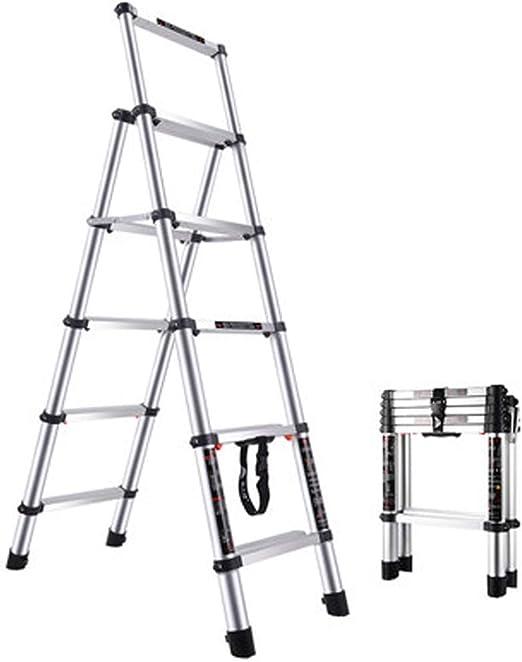 Baoniansoo Escalera de Plataforma Plegable Ligera de Aluminio, Bandeja de Trabajo, Escaleras de Escalera Taburete de Escalera, aleación de Aluminio Simple de Estilo Europeo, hogar, Plata Negro: Amazon.es: Hogar