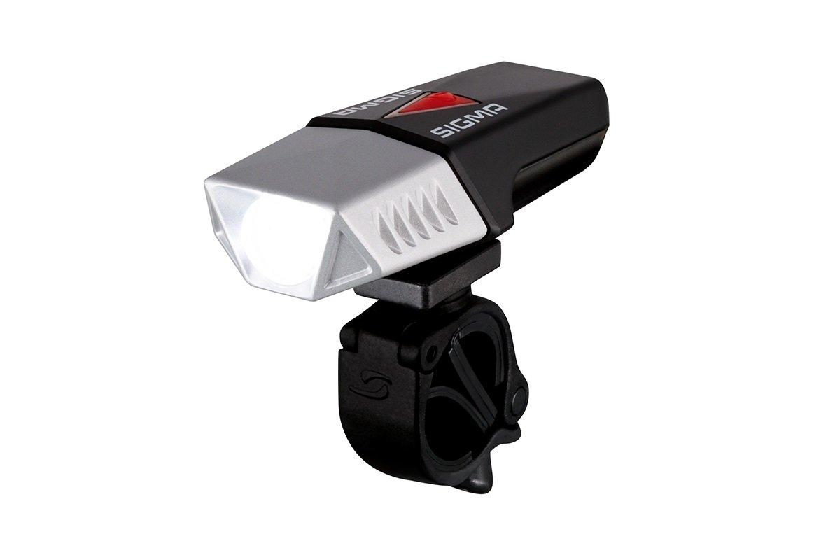 Sigma Buster Scheinwerfer, Unisex Erwachsene, Unisex – Erwachsene, Buster 600, schwarz/rot/versilbert, 600 lúmenes