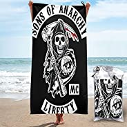 ANIYAWEI Sons of Anarchy Microfiber Quick Dry Towel for Beach, Workout, Yoga, Backpacking,Spa,Swim,Hiking and