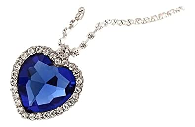 Lily jewellery royal blue heart of ocean titanic pendants lily jewellery royal blue heart of ocean titanic pendants swarovski elements sapphire crystal necklace for women aloadofball Image collections