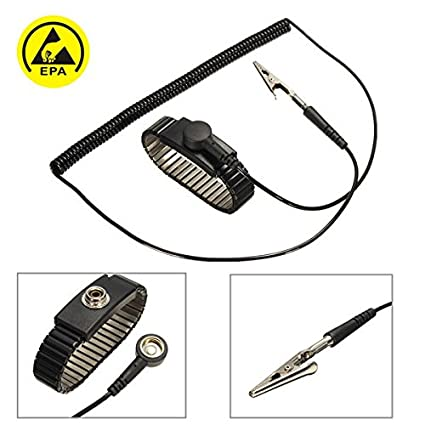 Back To Search Resultstools Anti Static Esd Adjustable Wrist Strap Discharge Band Ground Metal Bracelet