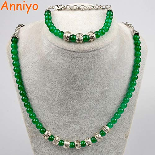 LTH12 Rosary Necklace and 24CM Bracelets Women,Fashion Beads Party Gifts #078506