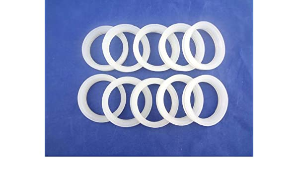 MISOL 10 pcs of white silicon sealing ring sealing loop for vacuum tube 58mm, for solar water heater/blanco sellado de silicona lazo para 58mm tubo de vacío ...
