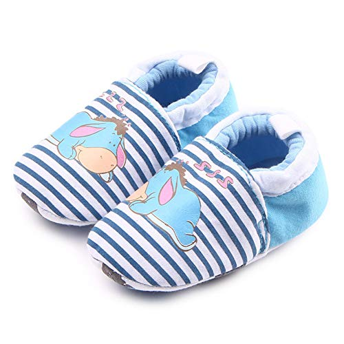 BiBeGoi Baby Boys Girls Soft Sole Walking Slippers with Grip Infant Cotton Moccasins First Walkers Shoes Baptism Birthday Gift
