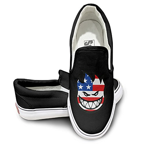 spitfire-laughing-usa-flag-fashion-slip-on-canvas-sneakers-42-black
