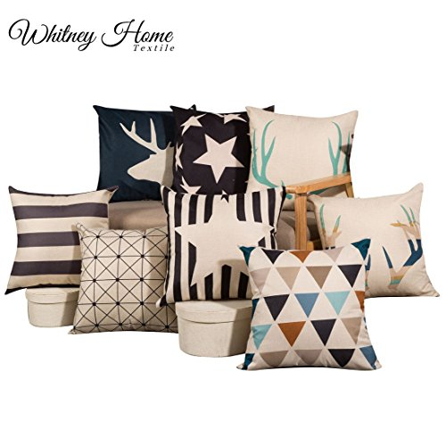 Modern Decorative Canvas Square Throw Pillow Cover Print 18
