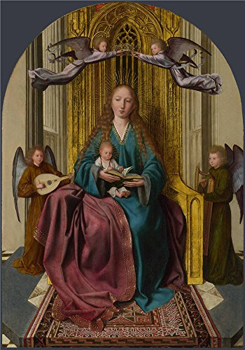 Divas Costume Battle Royal (The Perfect Effect Canvas Of Oil Painting 'Quinten Massys The Virgin And Child Enthroned With Four Angels ' ,size: 12 X 17 Inch / 30 X 44 Cm ,this Cheap But High Quality Art Decorative Art Decorative Canvas Prints Is Fit For Basement Decor And Home Decoration And Gifts)