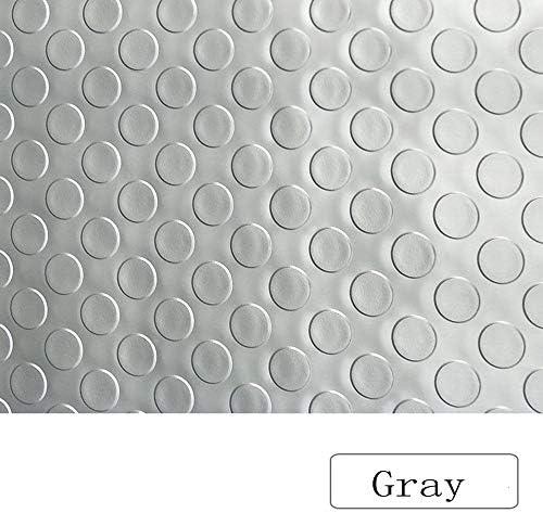 バルコニーカーペット 屋外マット、防水PVCプラスチックカーペットフロア階段廊下滑り止めプラスチックマットストアカーペット、5 M / 10 M、4色 (Color : Gray, Size : 1 m X 10 m)