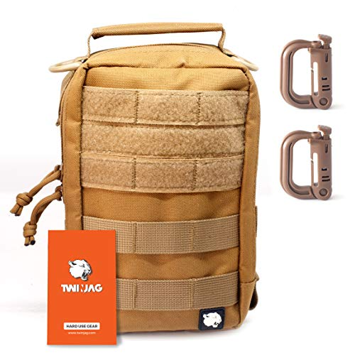 TwinJag Tactical Admin Molle Pouch - Resistant and Compact EDC Organizer - WaterResistant Gadget Utility Military Gear (General Admin Pouch)