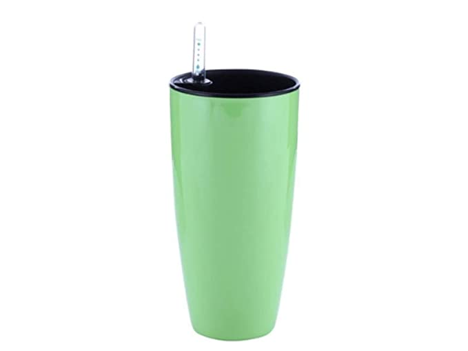 GT Planter Decorative Flower Pots Self Watering Planter for House Indoor Plants with Water Level Indicator and Inner Pot | Flower Pots for Gardening Lime Colour LQ1223