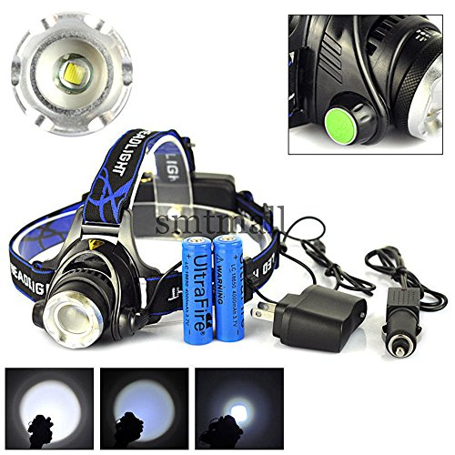 2000Lm CREE XML T6 Headlight Headlamp 3-mode torch - 9