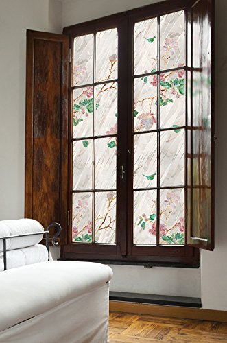ARTSCAPE Wild Rose Window Film 24'' x 36'' by ARTSCAPE