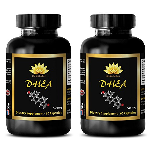 Testosterone booster pills for men - DHEA (Dehydroepiandrosterone) - Dhea for men 50 mg - 2 Bottles 120 Capsules
