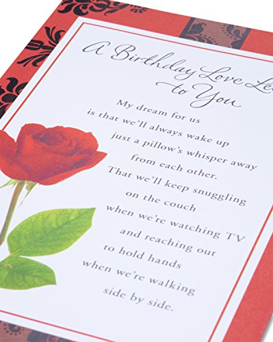 American Greetings Love Letter Birthday Card for Sweetheart Photo #3