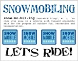 SRM Stickers Say It with Stickers Mini Snowmobiling Scrapbooking