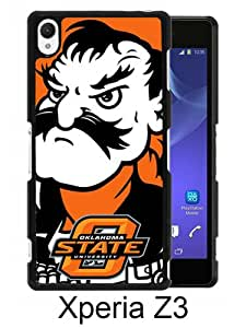 Beautiful And Unique Designed Case For Sony Xperia Z3 With NCAA Big 12 Conference Big12 Football Oklahoma State Cowboys 1 black Phone Case