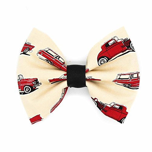 Price comparison product image Red Classic Hot Rod Cars Fabric Hair Bow Clip