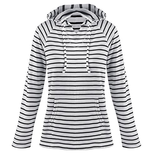 Women's Hoodie - Mariner Navy And White Striped Knit Hooded Sweatshirt - Xxl
