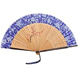 Oriental Vintage Style Folding Fan Hand Fan Foldable Handheld Fan Summer Perfect Gift, Y