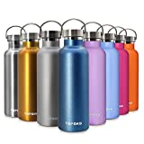 hot water holder - TOPOKO 25 oz Stainless Steel Vacuum Insulated Water Bottle, Keeps Drink Cold up to 24 hours & Hot up to 12 hours, Leak Proof and Sweat Proof. Large Capacity Sports Bottle (Gold)