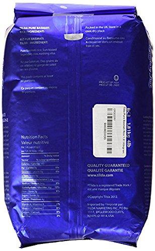 Tilda Pure Original Basmati Gluten Free Non GMO 64 Oz. Pack Of 3.