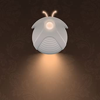 Fireworm - Luz LED con sensor de movimiento, se puede pegar en cualquier lugar para escaleras, pasillos y baños (funciona con pilas, luz blanca cálida y suave): Amazon.es: Iluminación
