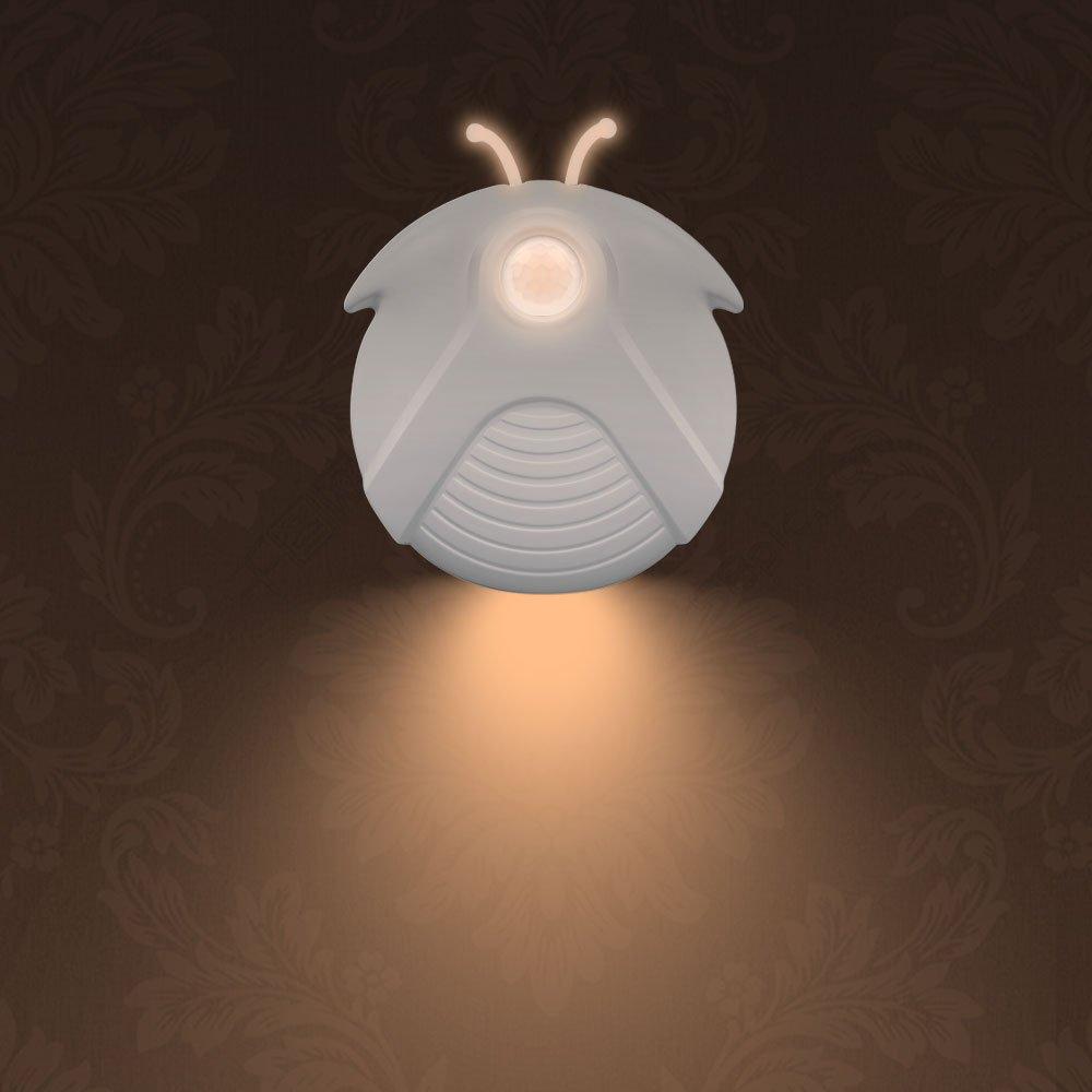 Fireworm LEDモーションセンサーライト、スティックAnywhere用ナイトライト階段、廊下、バスルーム(バッテリ、ソフト暖かいホワイトグロー) B07BS2VBWM 14983
