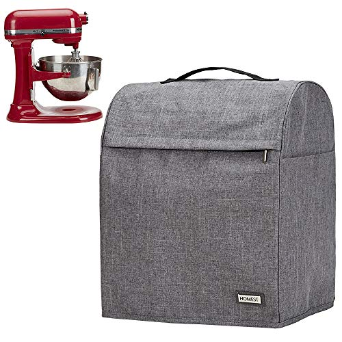 HOMEST Stand Mixer Dust Cover with Pockets Compatible with KitchenAid Tilt Head & Bowl Lift Models, Grey (Patent Pending) (Kitchen Aid Lift Mixer Cover)