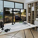 LANGRIA LCD Triple Monitor Stand Desk Mount Lift