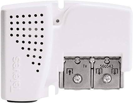 Televes 560543 - Amplificador de vivienda PicoKom, 3 salidas (2+TV): VHF/UHF - LTE Ready