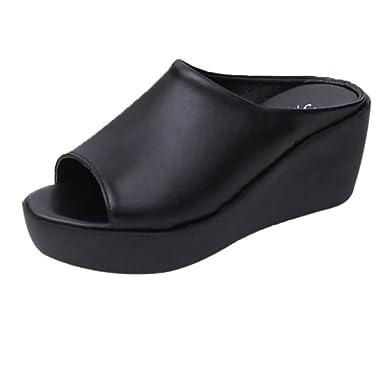 Hausschuhe DEELIN Frauen Sommer Neue Produkte Mode Freizeit Fischmund Sandalen Dicke Boden Hausschuhe