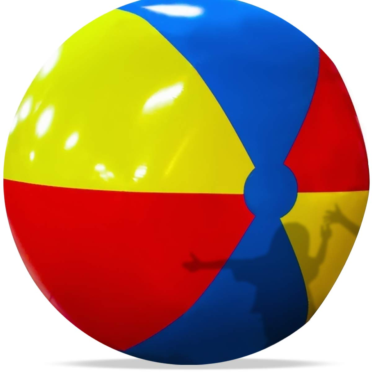 Novelty Place Giant Inflatable Beach Ball, Pool Toy for Kids & Adults - Jumbo Size 5 Feet (60 inches)
