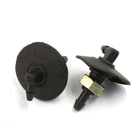 Sourcingmap – ® Universal Coche Ventana Limpiaparabrisas pulverizador parabrisas arandela boquilla 9 mm par