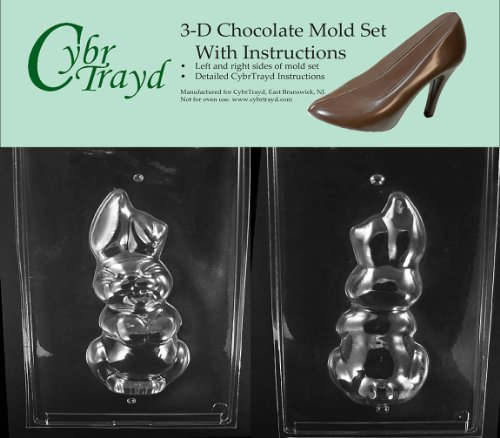 Cybrtrayd E300AB Chocolate Candy Mold, Includes 3D Chocolate