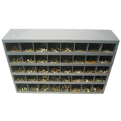 NEF Nut Bolt Washer Assortment, Grade 8 USS plus 40 Hole Metal Bolt Bin, 2625 Pieces by Northeast Fasteners