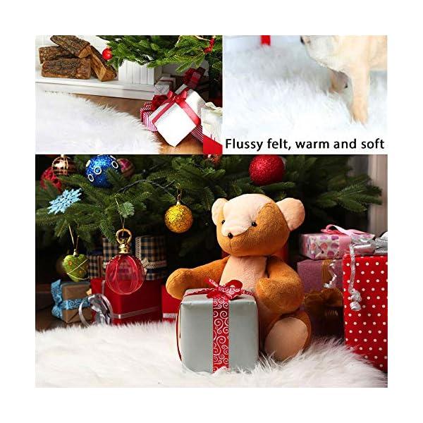WELLXUNK Tappeto Albero di Natale,Gonna Albero di Natale,Tappetino per Albero di Natale per Albero di Natale Decorazione Capodanno casa Festa Forniture (90 cm) 5 spesavip