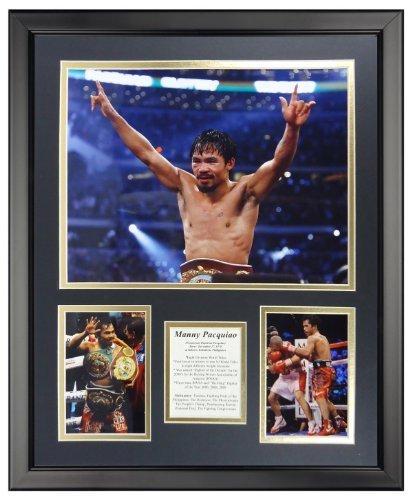 Legenden Sterben Nie Manny Pacquiao gerahmtes Foto Collage, 40,6 x 50,8 cm von Legends Never Die