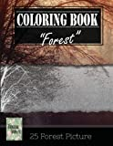 img - for Forest Wilderness Gray Scale Photo Adult Coloring Book, Mind Relaxation Stress Relief: Just added color to release your stress and power brain and ... and grown up, 8.5