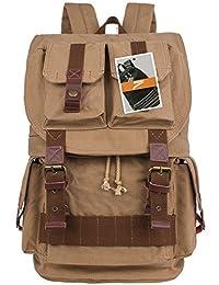 Leaper Multi-functional Canvas Camera Backpack /Rucksack/ School Bag /Travel Bag (Khaki)