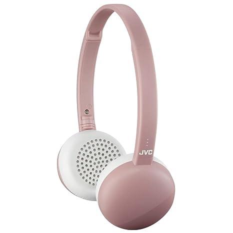 d3e25dcba2a Amazon.com: JVC Flats Wireless On Ear Headphones, Light Weight, 11 Hours  Long Battery Life - HAS20BTP (Pink): Electronics