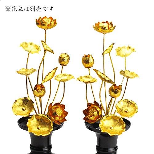 仏具 常花(金蓮華)7号11本立(一対入り) 常花高さ22.0cm B00S0ZK0WU
