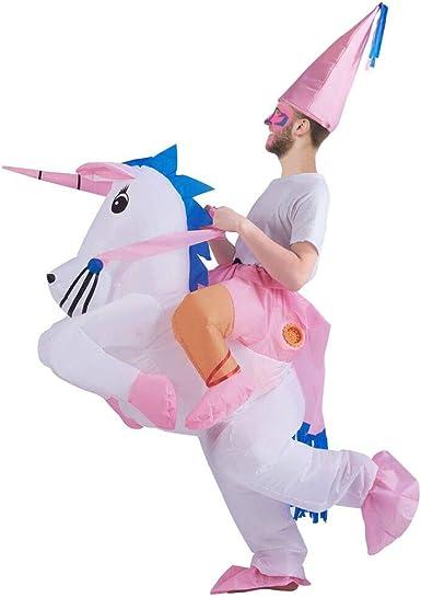 Amazon.com: Disfraz inflable de unicornio de ATDAWN, disfraz ...