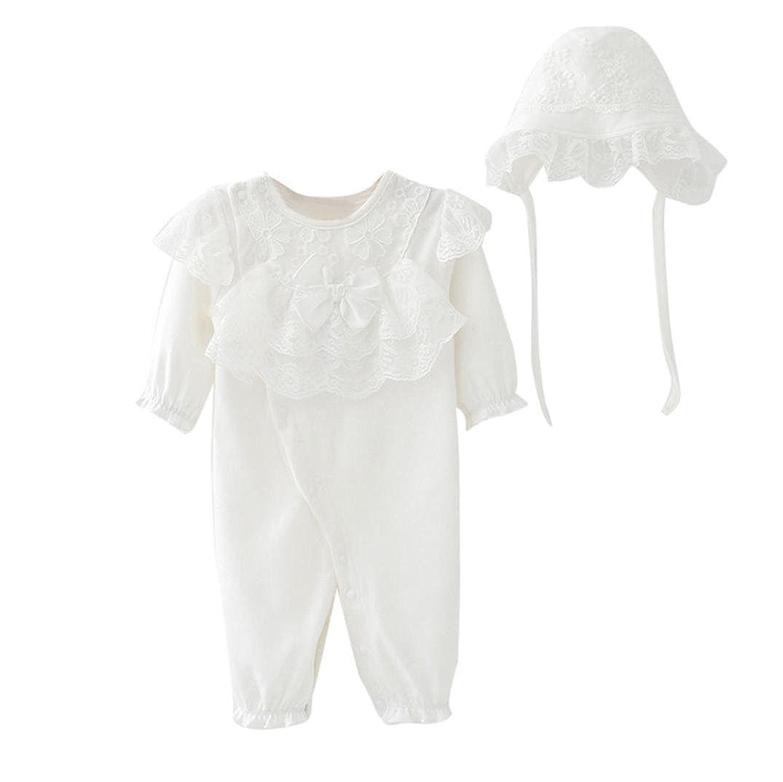 Manadlian Body Bebe Fille Garcon, BéBé Enfants Filles Casquette Chapeau + Lace Barboteuse Combinaison Vêtements Ensemble Casual