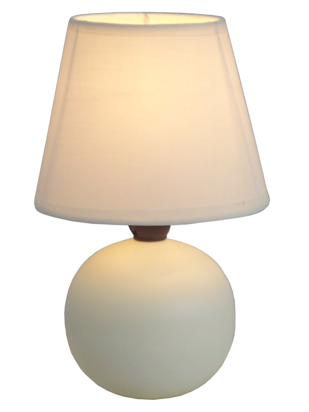 Simple Designs LT2008-OFF Mini Ceramic Globe Table Lamp, Off White