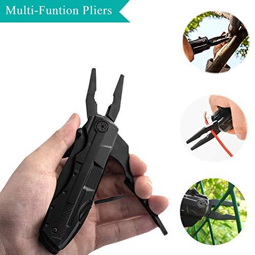 Faltbare Multifunktionsmesser, 5 in 1 Taschenwerkzeug Multitool mit Dosenöffner, Flaschenöffner, Klappmesser und Schraubendreher für Outdoor Camping Wandern