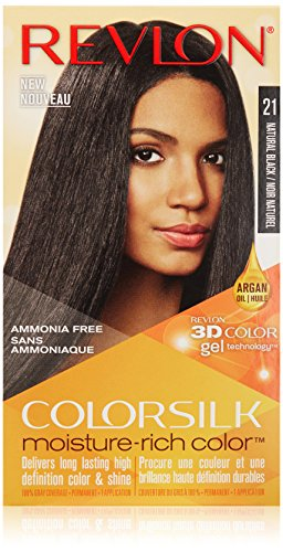 Revlon Colorsilk Moisture Rich Hair Color, Natural Black No. 21, 1 Count